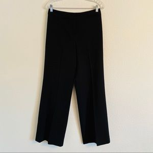 St. John Caviar black wide leg pants trousers 4